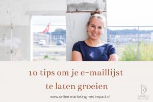 emaillijst laten groeien tips