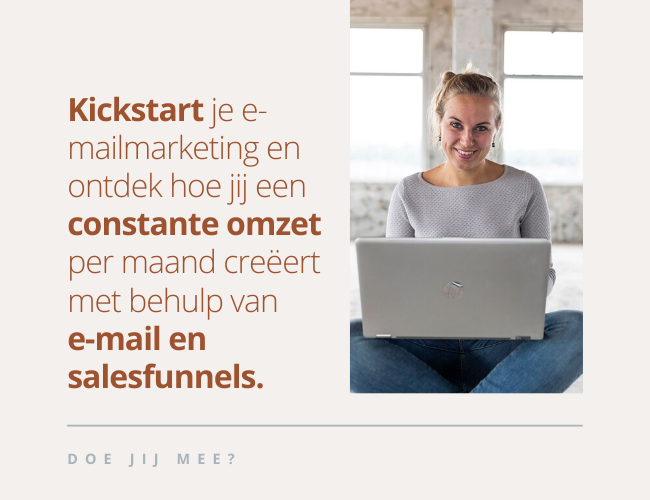 kickstart je emailmarketing en salesfunnels
